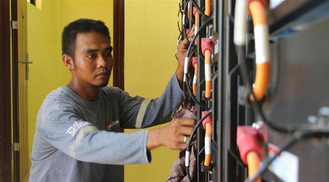 """国家电网""""光明乡村""""项目为菲律宾偏远山区带来光明"""